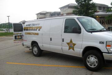 File: A prisoner transport van, photographed on August 2, 2011. (Flickr / C Holmes)
