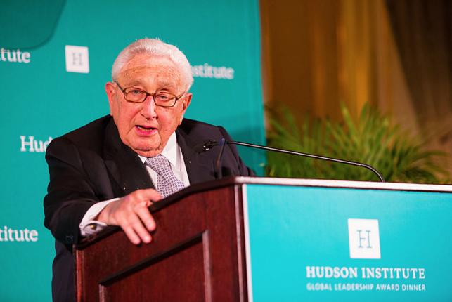 Henry Kissinger (Photo by Hudson Institute)
